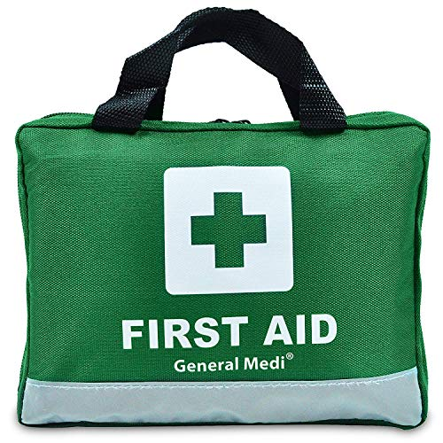210 Piece First Aid Kit- Emergency kit - Reflective Design - Includes Eyewash, Ice(Cold) Pack,Moleskin Pad,CPR Face Mask and Emergency Blanket for Travel, Home, Office, Car, Workplace & Outdoor