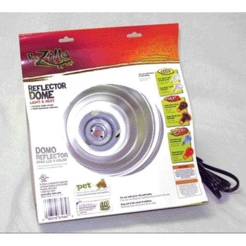 Zilla Light & Heat Reflector Dome Fixture with Ceramic Socket (Silver, 8.5 Inch)