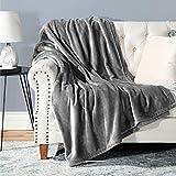 Bedsure Fleece Blanket Throw Blanket Ash Grey