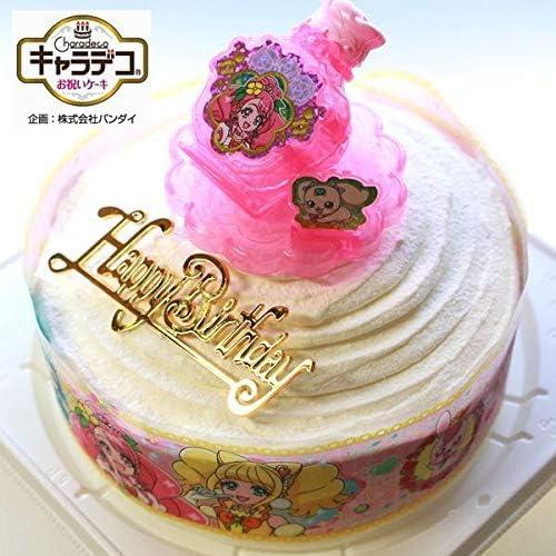 バースデー/ボンブ(ドーム型)生ケーキ/ヒーリングっど・プリキュア2020・キャラデコ ケーキ/バースデーオーナメントとキャンドル小1袋6本付き/バースデーケーキ