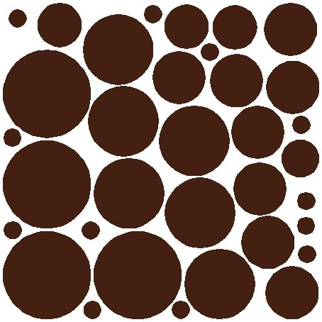 (34 BROWN POLKA DOTS...WALL STICKERS ART DECALS)