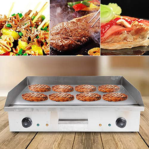 """ZHFEISY Electric Griddle - 4400W Non-Stick Electric Griddles Commercial/Home Kitchen BBQ Grill Teppanyaki Hot Plate with Drip Tray & Temperature Control for Indoor/Outdoor 28.5""""X15.7""""X9""""[CB/CE/GS Certification]"""
