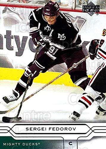 (CI) Sergei Fedorov Hockey Card 2004-05 Upper Deck (base) 4 Sergei Fedorov