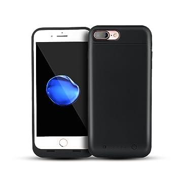 NOVPEAK Funda Bateria iPhone 7 Plus/8 Plus, 7000mAh Carcasa Bateria, Externa Recargable Protector Cargador Power Bank Case para Apple iPhone 7 Plus/8 ...