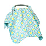 Carseat Canopy (Kennedy) Baby Infant Car Seat Cover W/attachment Straps and Minky Fabric