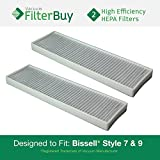 2 - Generic Bissell Style 7 & 9 HEPA Filters, Part #32076. Designed by FilterBuy to fit All Bissell Style 7 & 9 Upright Vacuum Cleaners