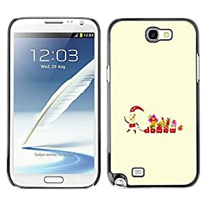 YOYO Slim PC / Aluminium Case Cover Armor Shell Portection //Christmas Holiday Santa Gifts 1275 //Samsung Note 2