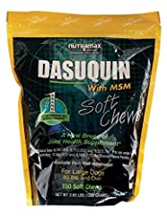 Dasuquin soft chews with msm are the exclusive veterinary formulation that contains the potent combination of glucosamine hydrochloride, low molecular weight chondroitin sulfate and avocado/soybean unsaponifiables (asu) and methylsulfonylmeth...