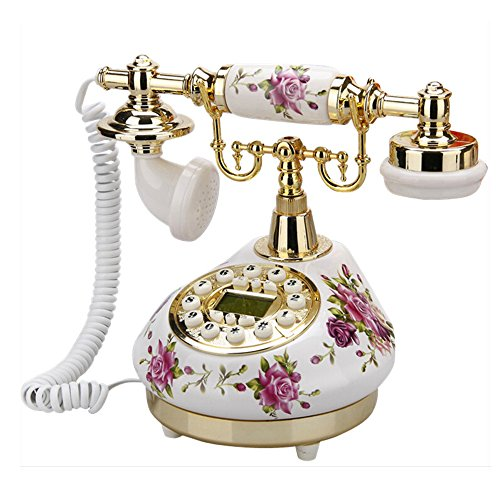 (TelPal Retro Vintage Antique Telephone Old Fashioned with Push Button dial for Home Decor)