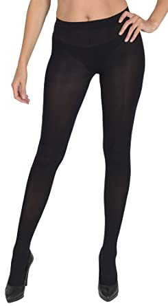 35527aa32 Women s Wardrobe 100 Denier Thick Opaque Tights Amazing Quality Black Small