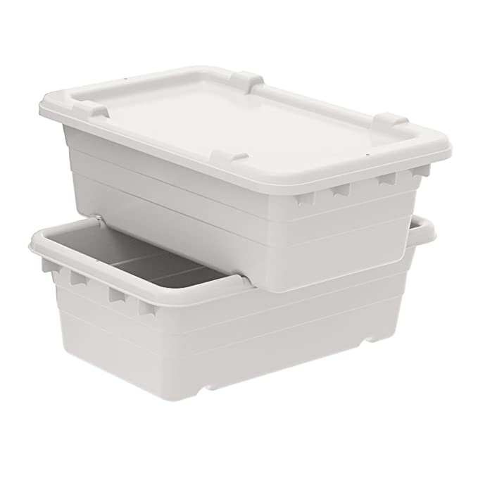 Akro-Mils 34005 Lid for 34305 Cross Stack Tote Grey 25 x 16 x 2 Case of 6