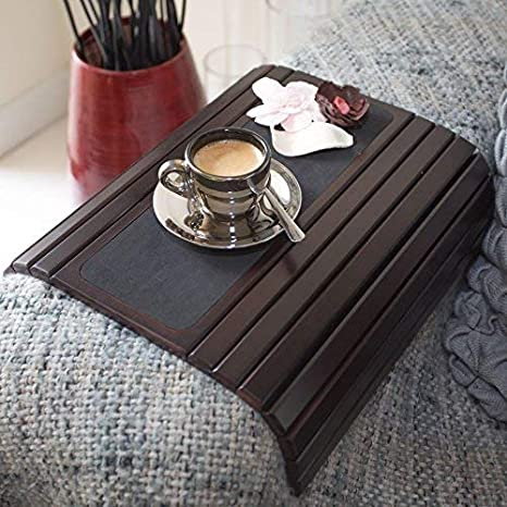 Amazon Com Couch Arm Table Sofa Arm Tray Flexible Foldable Coaster