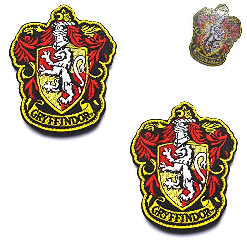 Harry Potter House of Gryffindor House Hogwarts Crest Patch Full Color Iron-On Patches Applique For Coat Jacket Gear Cap Hat Backpack 3.94