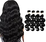 7A Grade Brazilian Virgin Hair Body Wave 4 Bundles Unprocessed Human Hair Weave 400g/lot Natural Black Hair Extensions (16'' 18'' 20'' 22'')