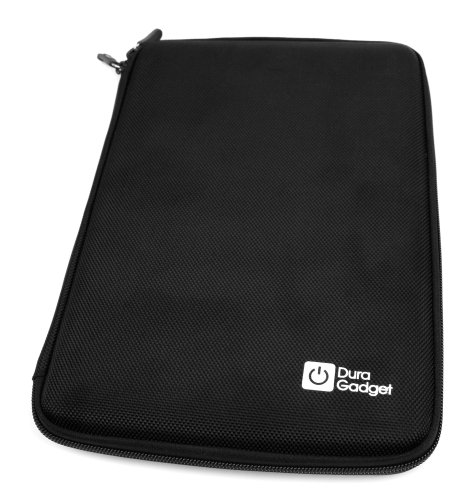 DURAGADGET Black Rigid Protective Zip Armoured Case With Soft Inner Lining & Netted Pocket For Dell Venue 8, GoClever TERRA 90 / TAB I921, TabletExpress Allwinner A20 & DMG T909 (Dmg 90 Tablets)