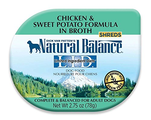 Natural Balance 24 Count 24Ea/2.75 Oz Lid Chicken & Sweet Potato In Broth Dog Food, One Size (Natural Balance Dog Food Chicken)