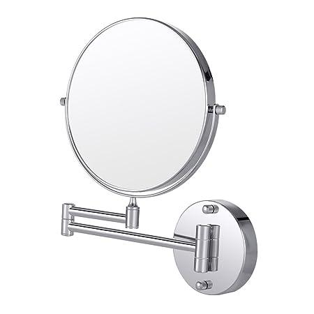 cozzine wall mounted bathroom mirror 10x magnification double sided rh amazon co uk