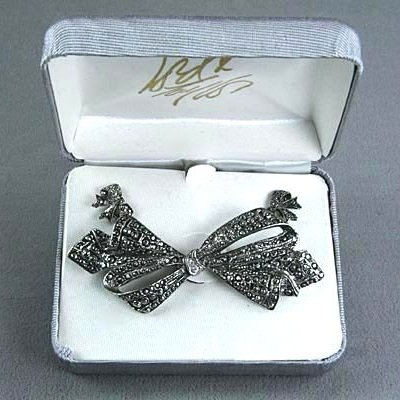Lord & Taylor Pendant Necklace (Lord & Taylor Faux Marcasite Bow Brooch & Matching Earring Set 2)