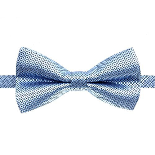 Classic Male Femal Bowtie Fashion Solid Color Neckwear Unisex Mens Women Bow Tie Polyester 6CM Blue