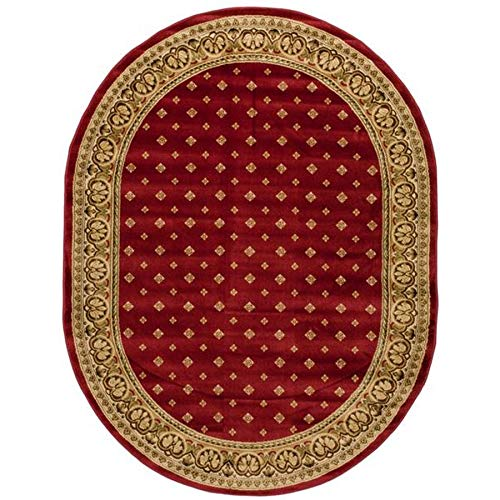 - Noble Palace Red French European Formal Traditional Area Rug 5x7 ( 5'3