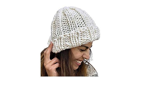 White Handmade Chunky Oversized Beanie Hat