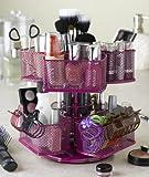 Nifty Cosmetic Organizing Carousel, Rose