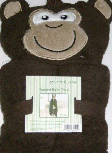 peanut-ollie-hooded-monkey-bath-towel-child-size-100-cotton-brown-gorillia