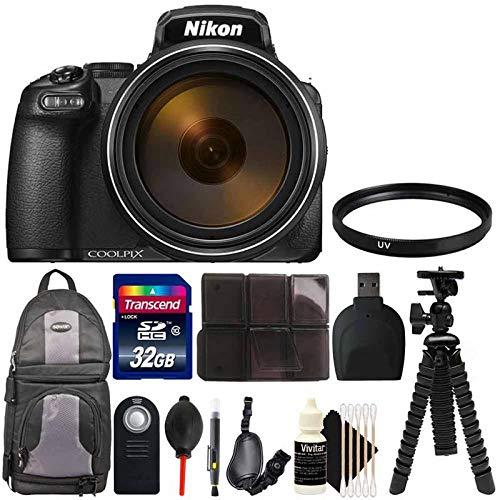 Nikon COOLPIX P1000 16.7MP 125x Optical Zoom Point and Shoot Digital Camera Bundle