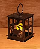 Made in USA Crab Themed Steel Candle Lantern