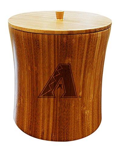 MLB Arizona Diamondbacks Unisex MLB Bamboo Ice Bucket, Natural, 8