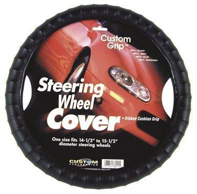 Custom Accessories 38011 Gripper Series Black Custom Grip Steering Wheel Cover