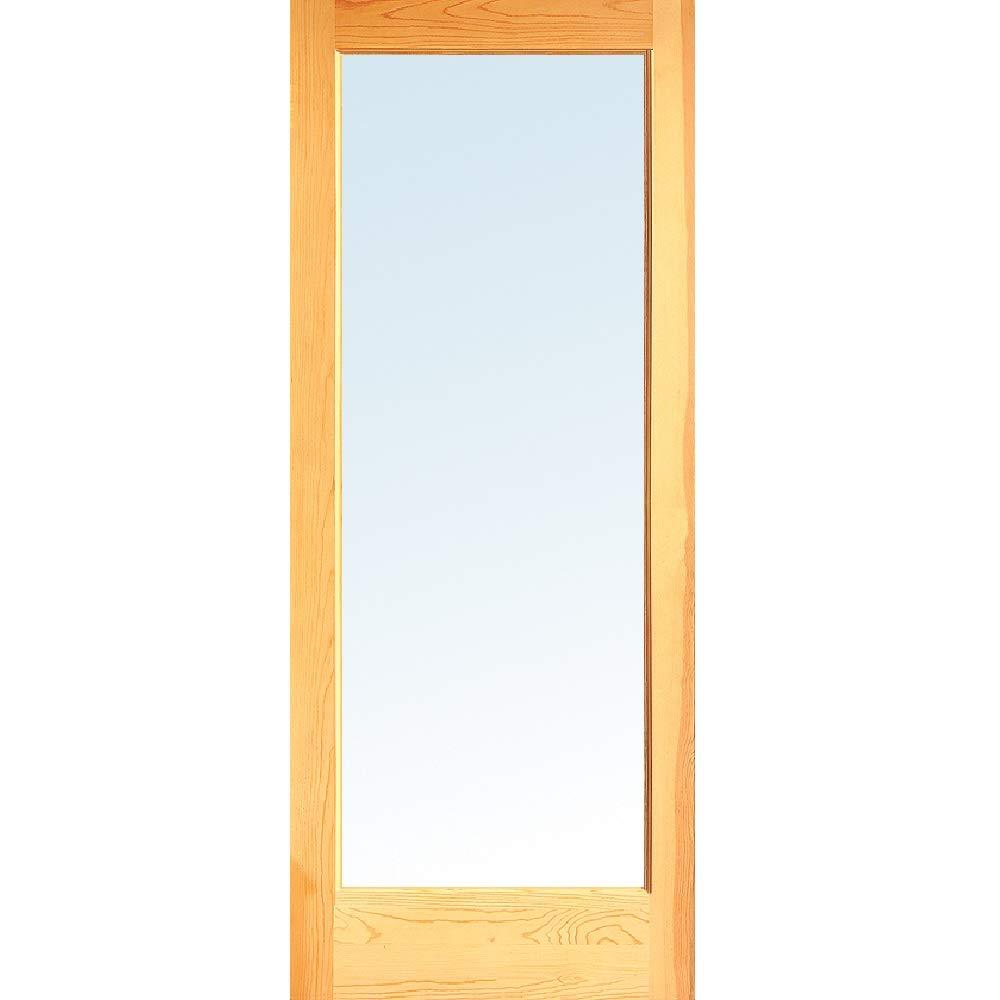 1-3//8 Thick 1 Lite Interior Door Slab 32x80 National Door Company ZZ364977 Unfinished Pine