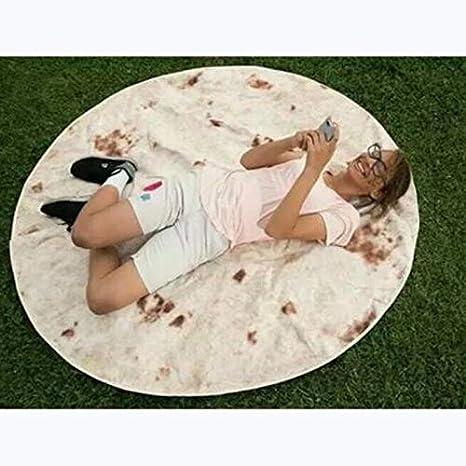 Amazon.com: Best Round Blanket 125cm 150cm Realistic Food ...