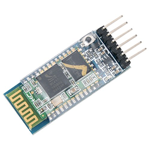 - HiLetgo HC-05 Wireless Bluetooth RF Transceiver Master Slave Integrated Bluetooth Module 6 Pin Wireless Serial Port Communication BT Module for Arduino