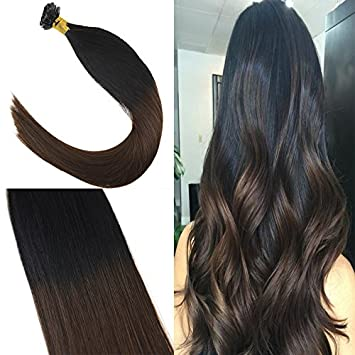 Amazon Com Youngsee 24inch Hot Fusion Ombre Keratin Tip Hair