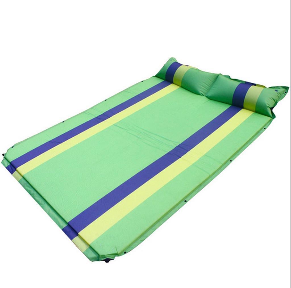 Aufblasbares Bett HETAO Air Bed Single Zwei Personen Tablet Fold kann gegenseitig buchstabiert automatisch aufblasbare Pads Outdoor Feuchtigkeit Kissen 192  130cm Matratze