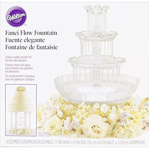Wedding Cake Fountain Crystal Look Water Lights Fancy Flow Display Centerpiece ✅ by GOOD MEDIA