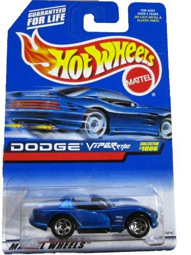 Mattel Hot Wheels 1999 1:64 Scale Blue Dodge Viper RT/10 Die Cast Car Collector #1006 1006 Car