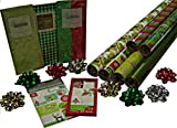 Gift Wrap Company Naturally Holiday Gift Wrap, Tags And Ribbon Assortment Kit