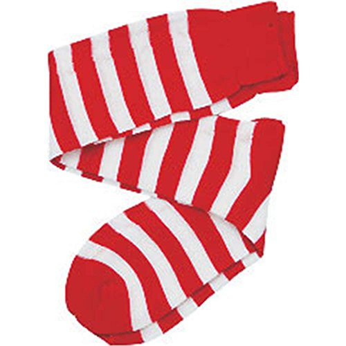Kids White Striped Knee Socks