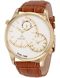 August Steiner Men's ASA810YG Stainless Steel Dual Time Watch