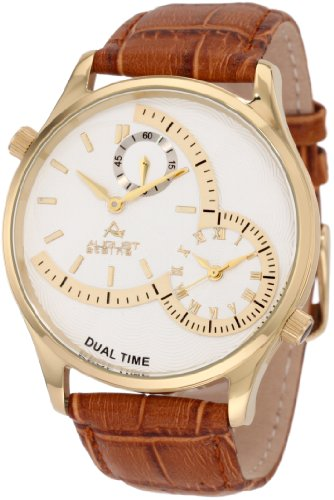 August-Steiner-Mens-ASA810YG-Gold-Tone-Watch-with-Brown-Leather-Band