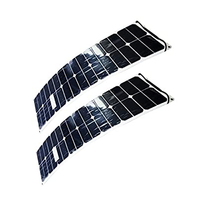 REBORN 50Watts 12V/18V Monocrystalline SunPower Cell Semi Flexible Solar Panel (50Watts)