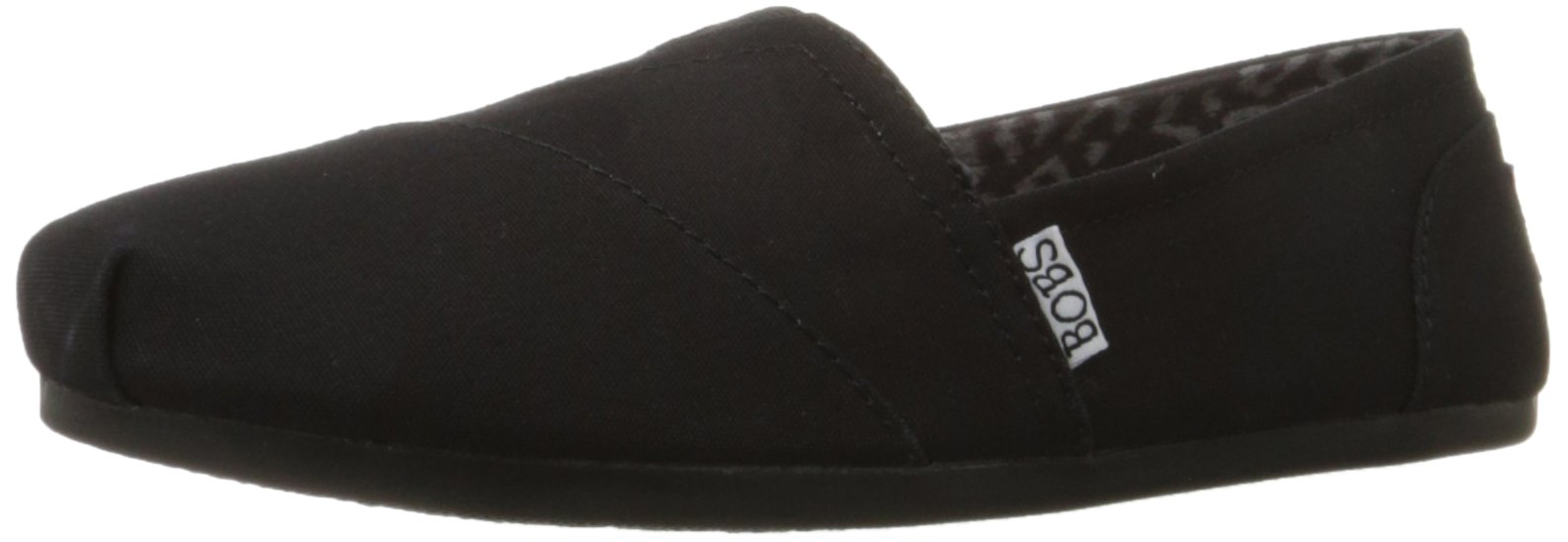 Skechers BOBS from Women's Plush Peace and Love Flat,Black,8 M US