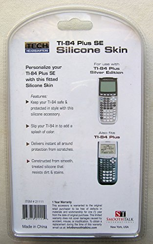 White Silicone Calculator Skin (Fits TI-84 Plus and TI-84 Plus SE) Photo #2