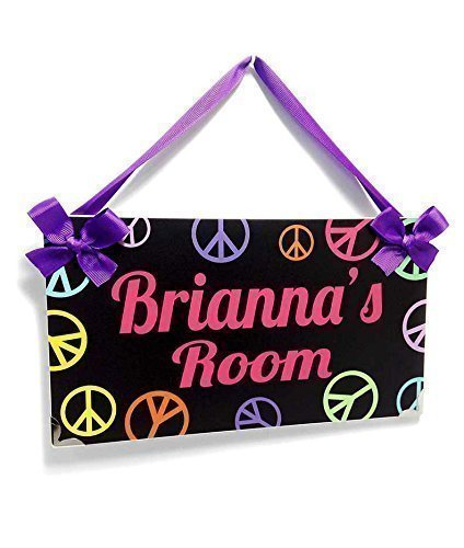 Amazon Personalizable Black Name Door Sign Teenagers Peace And