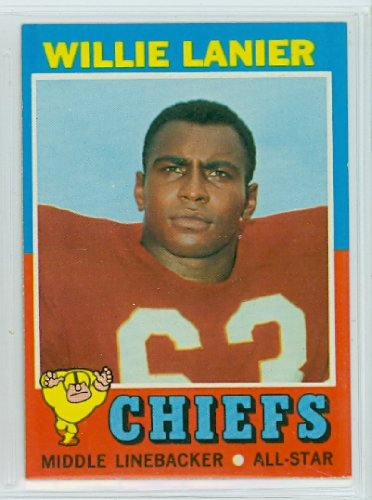 Card 1971 Football Topps (1971 Topps Football 114 Willie Lanier ROOKIE Excellent (5 out of 10) by Mickeys Cards)