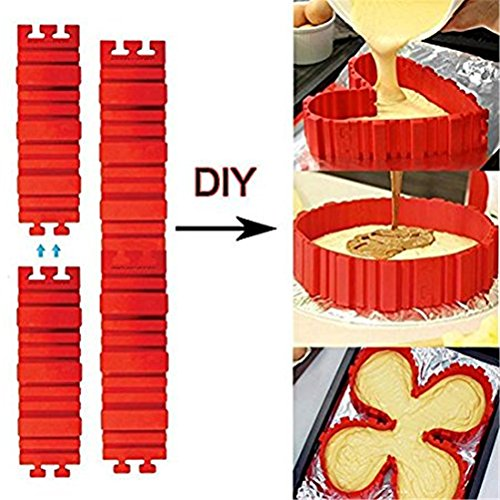 GAMT Lexible Silicone Cake Making Mold Bake Snake DIY Mould Tools Bakeware Set 4pcs/set