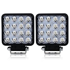 4 In Pods Cube Square Led Fog Lights Backup Reverse Drl Running Spot Lights On Front Rear Bumper For 4 Wheeler Honda Pioneer Boat John Deere Motorhome Motorcycle Pickup Side By Side Tractor Trailers