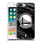 Official NBA B&W Marble Golden State Warriors Soft Gel Case for Apple iPhone 7 Plus / 8 Plus